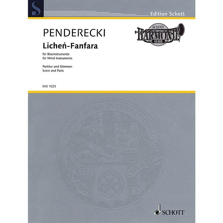 SchottLichén-Fanfara (for Wind Instruments) Ensemble Series by Krzysztof Penderecki