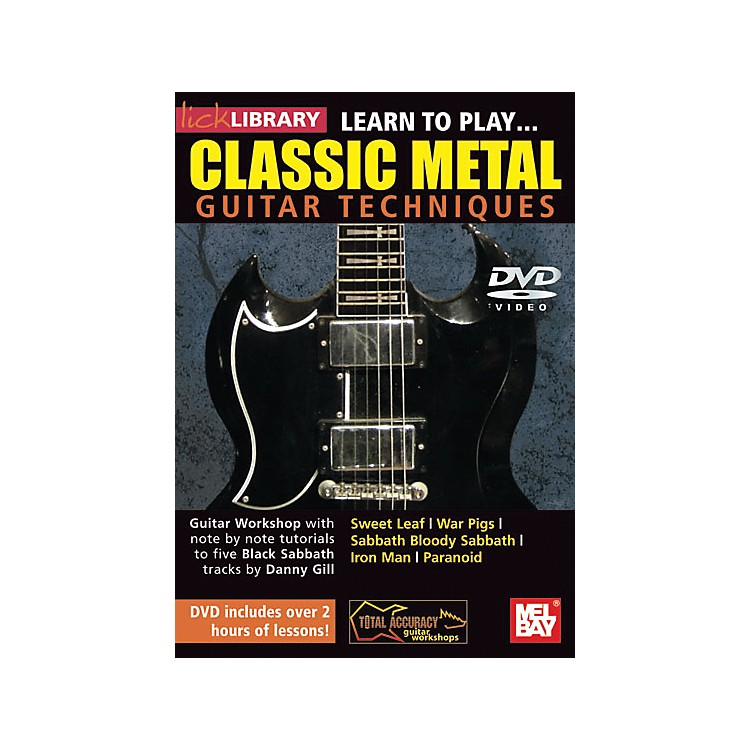 Mel Bay Lick Library Learn to Play Classic Metal Guitar Technique DVD