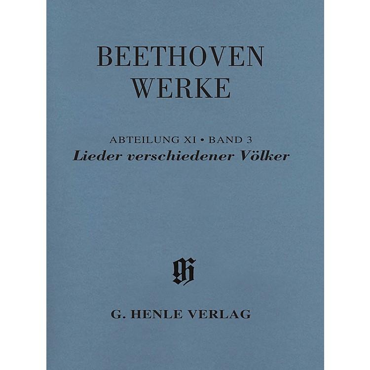 G. Henle VerlagLieder verschiedener Völker Henle Edition Softcover by Beethoven Edited by Susanne Cox