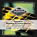 Black DiamondLight Gauge Silver-Plated Acoustic-Electric Guitar Strings thumbnail