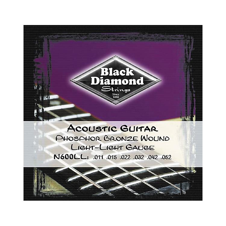 Black DiamondLight Light Gauge Phosphor Bronze Acoustic Guitar Strings