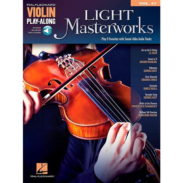 Hal LeonardLight Masterworks Violin Play-Along Volume 47 Book w/ Online Audio