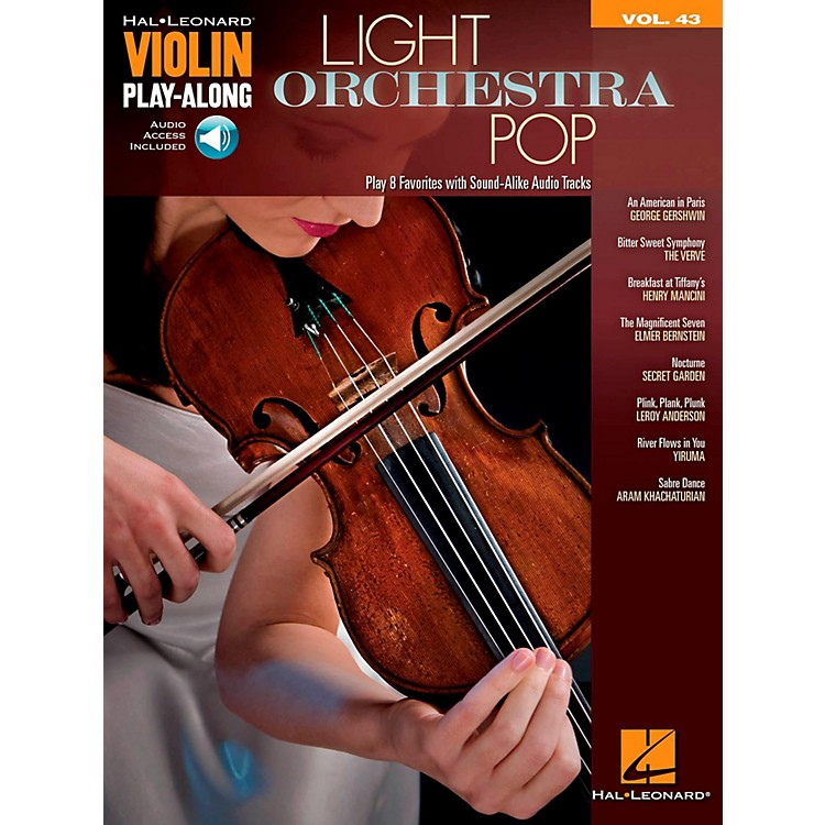 Hal LeonardLight Orchestra Pop Violin Play-Along Volume 43 Book w/ Audio Online