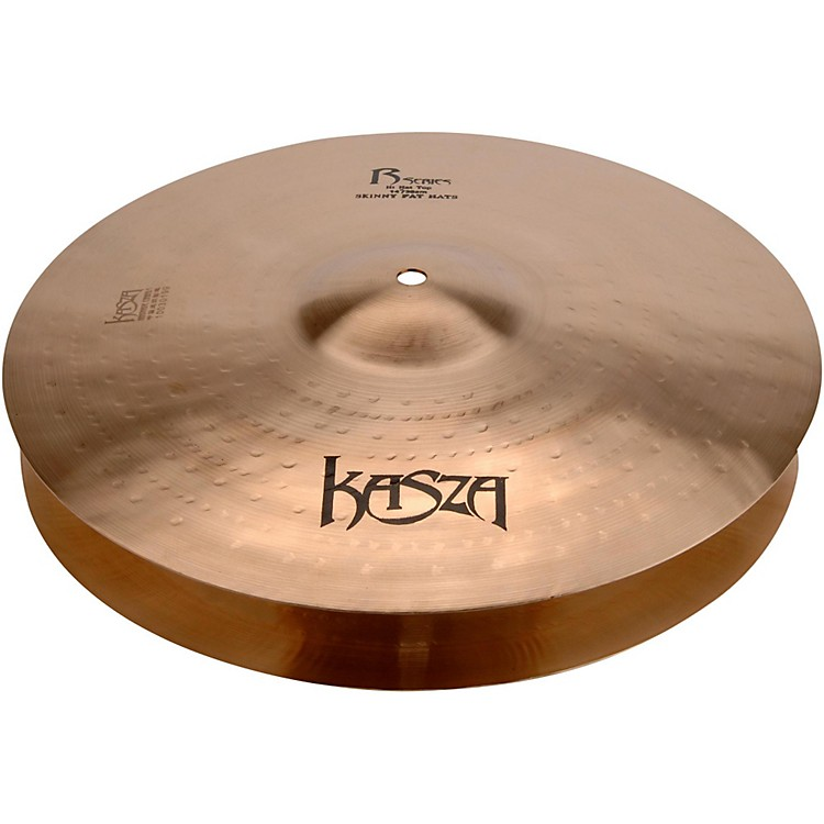 Kasza Cymbals Light Top/Heavy Flat Bottom Skinny Fat Rock Hi-hats 13 in.