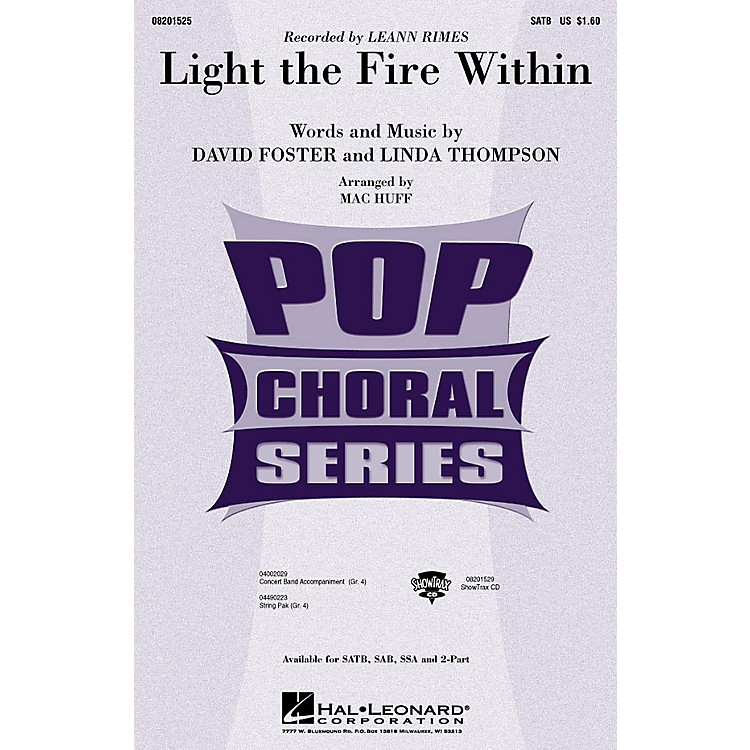 Hal Leonard Light the Fire Within (ShowTrax CD) ShowTrax CD by Lee Ann Rimes Arranged by Mac Huff