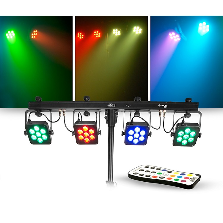 CHAUVET DJLighting Package with 4BAR Tri USB RGB LED Fixture and IRC-6 Controller