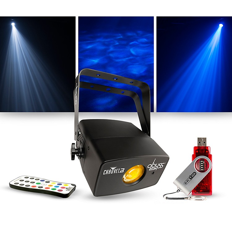 CHAUVET DJLighting Package with Abyss USB Multicolored Water Effect with IRC-6 and D-Fi Controllers