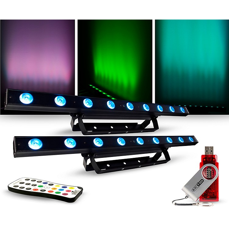 CHAUVET DJLighting Package with COLORband LED Effect Light, IRC-6 and D-Fi Controllers