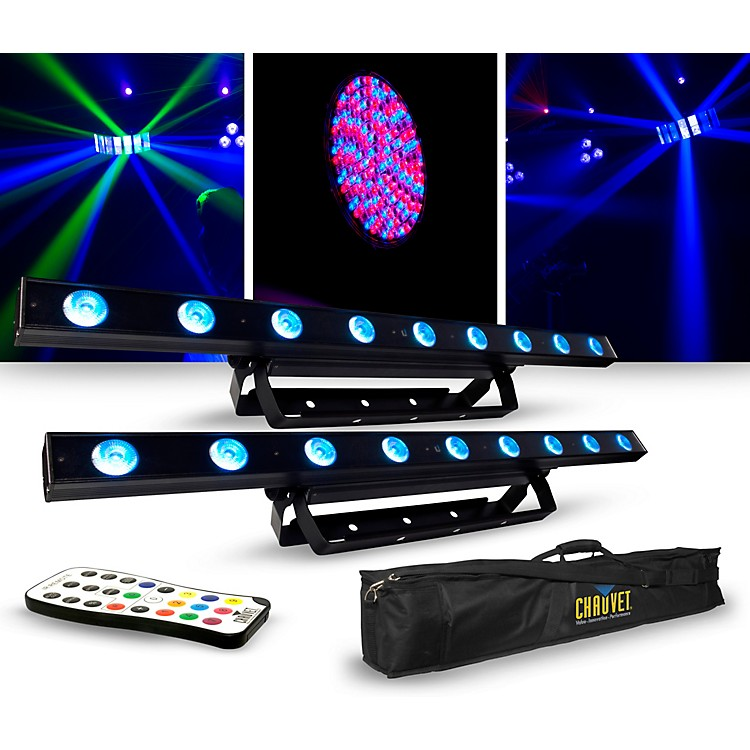 CHAUVET DJLighting Package with Two COLORband LED Effect Lights, IRC-6 and D-Fi Controllers