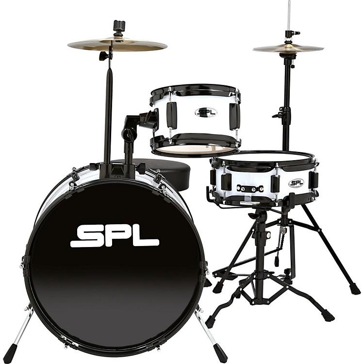 Sound Percussion LabsLil Kicker - 3 Piece Jr Drum Set with ThroneWhite