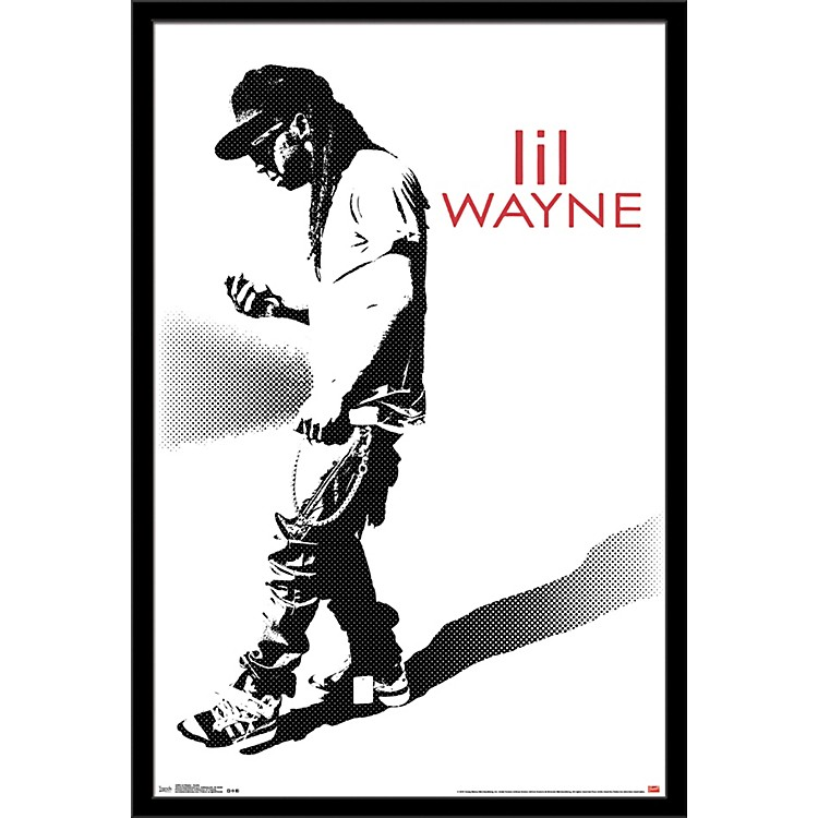 Trends International Lil Wayne - Hustle Poster Framed Black