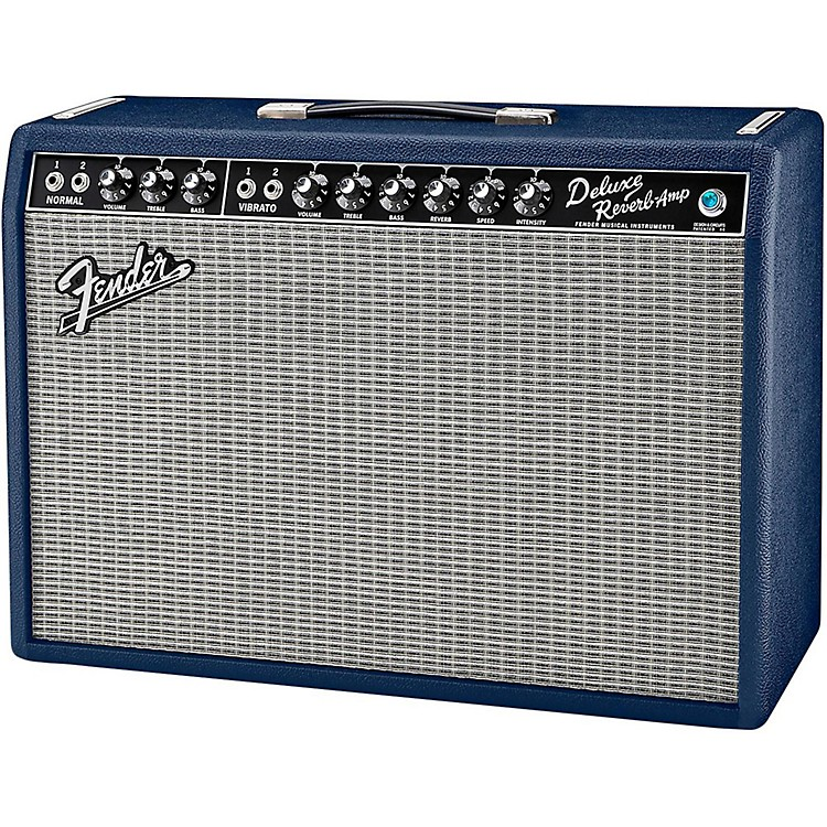 Fender Limited Edition '65 Deluxe Reverb 22W 1x12 Tube Guitar Combo Navy Blues Navy Blue
