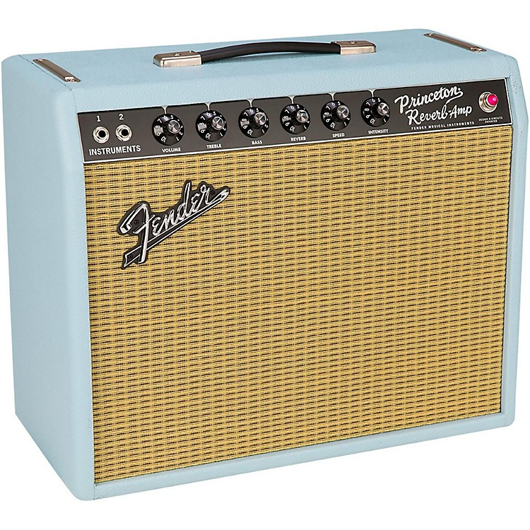 Fender Limited Edition '65 Princeton Reverb Sonic Gold 12W 1x12 Tube Guitar Combo Amplifier Sonic Blue