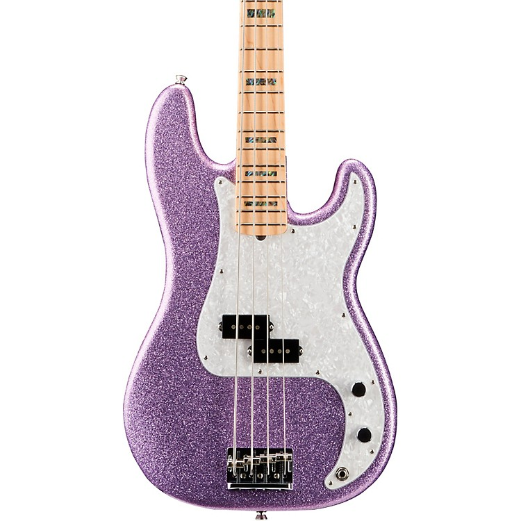 Fender Limited Edition Adam Clayton Precision Bass Maple Fingerboard Purple Sparkle