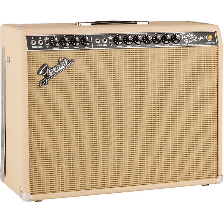 Fender Limited Edition British Tan '65 Twin Reverb 85W 2x12 Tube Guitar Combo Amp British Tan