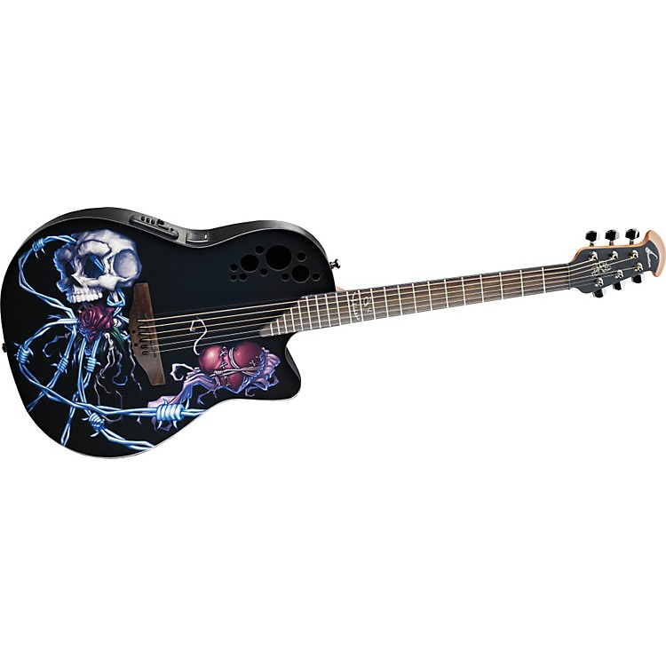 Ovation Limited-Edition DJ Ashba Demented Acoustic-Electric Guitar Ashbaland 886830736384