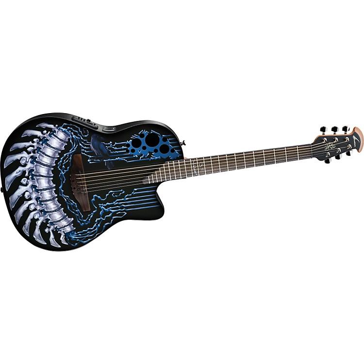 OvationLimited-Edition DJ Ashba Demented Acoustic-Electric GuitarChromebone