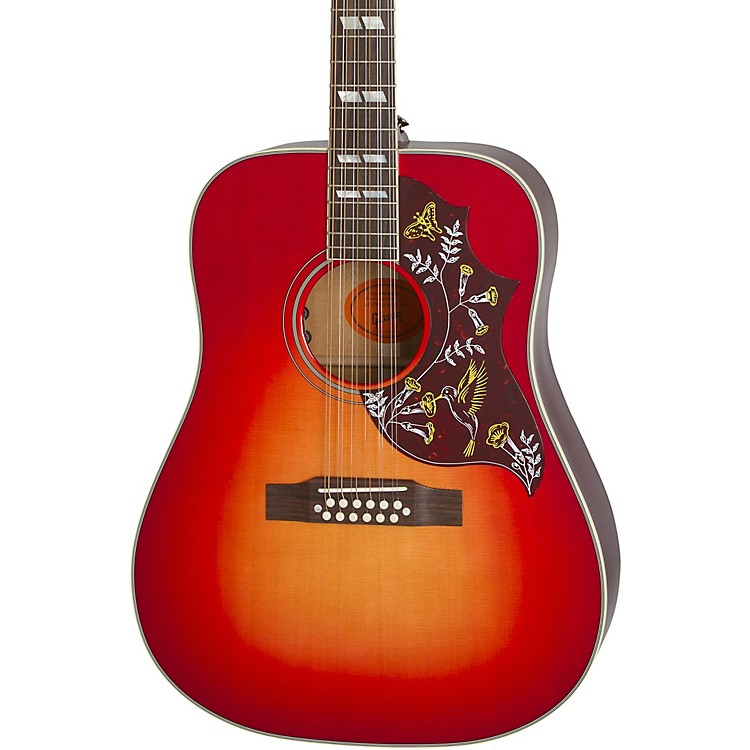 gibson limited edition hummingbird 12 string acoustic electric guitar music123. Black Bedroom Furniture Sets. Home Design Ideas