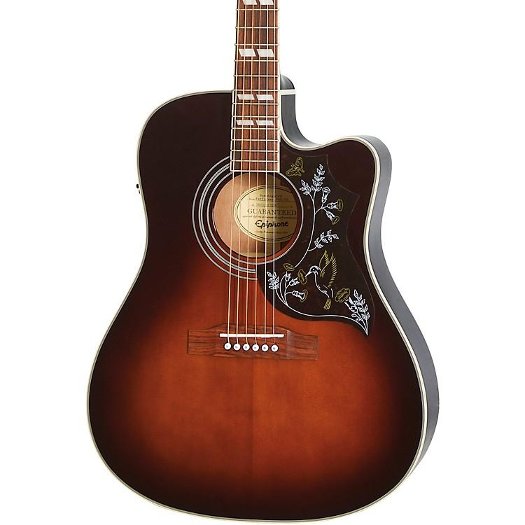 EpiphoneLimited Edition Hummingbird Performer PRO Acoustic-Electric GuitarTobacco Sunburst