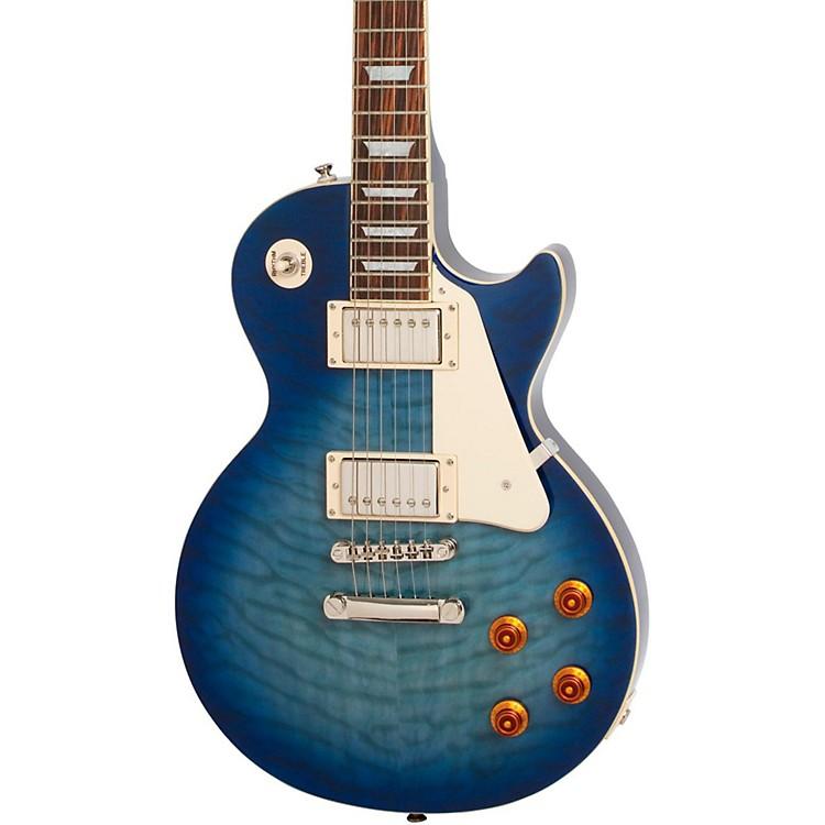 EpiphoneLimited Edition Les Paul Quilt Top PRO Electric GuitarTranslucent Blue