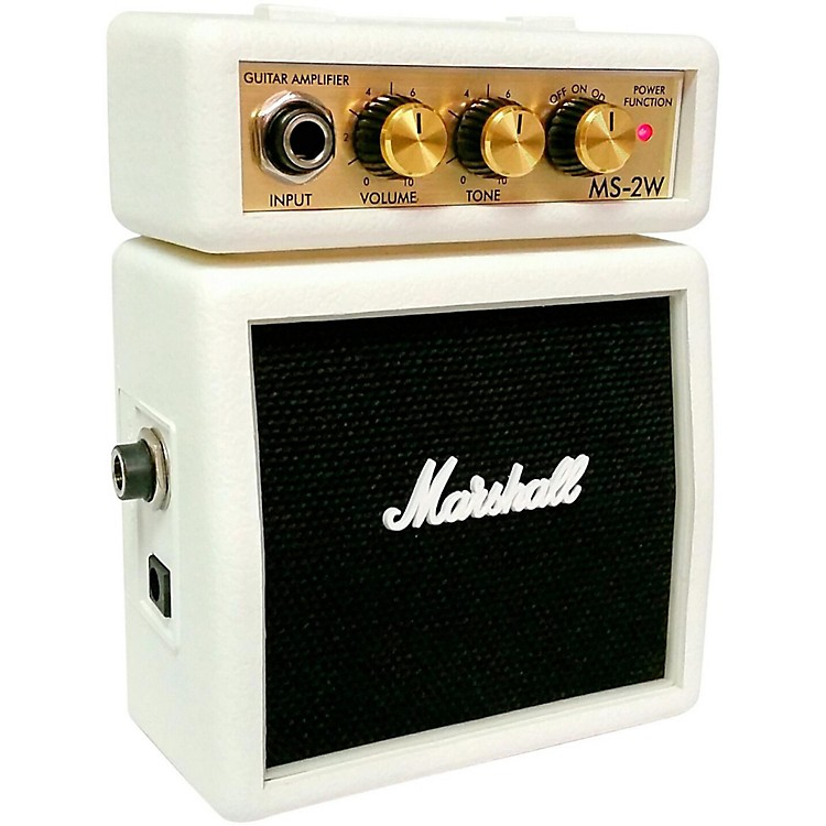 MarshallLimited Edition MS-2W 1W Micro Guitar Amp White