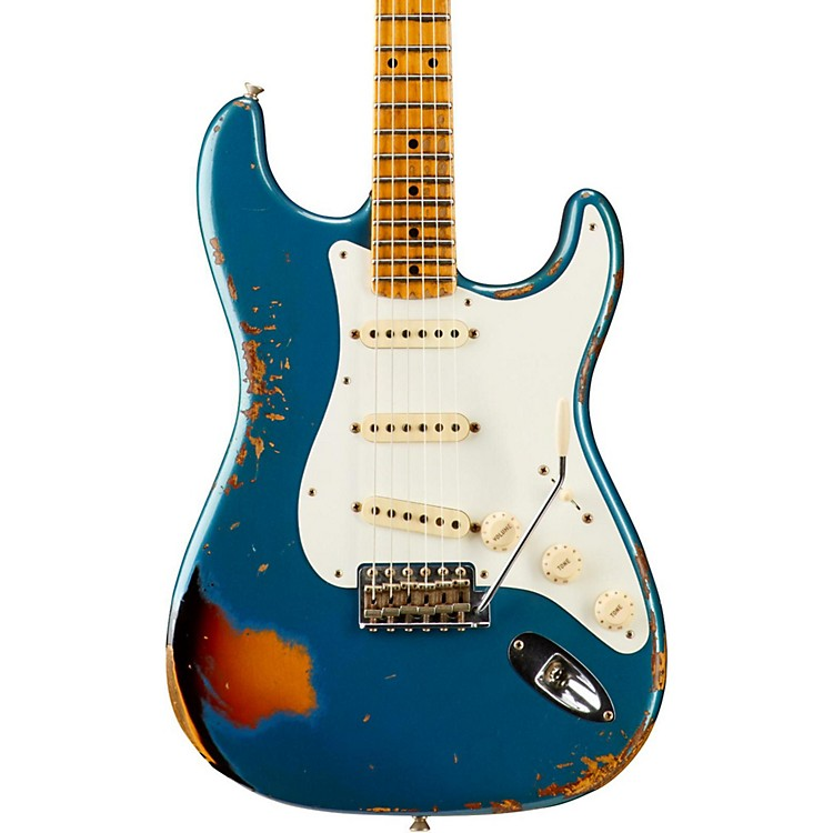 Fender Custom ShopLimited Edition Mischief Maker Heavy Relic - Aged Lake Placid Blue over 3-Color SunburstAged Lake Placid Blue over 3-Color Sunburst