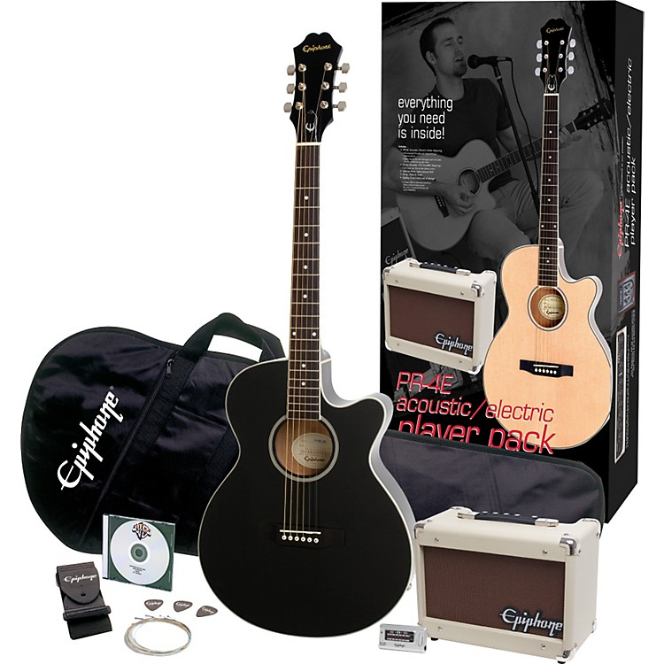 EpiphoneLimited Edition PR-4E Acoustic-Electric Guitar Value Pack