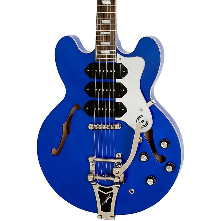 Epiphone Limited Edition Riviera Custom P93 Blue Royale Electric Guitar Chicago Pearl