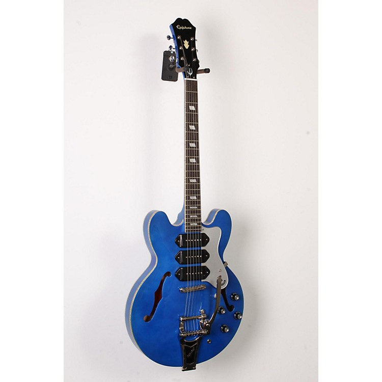 EpiphoneLimited Edition Riviera Custom P93 Blue Royale Electric GuitarChicago Pearl888365843254