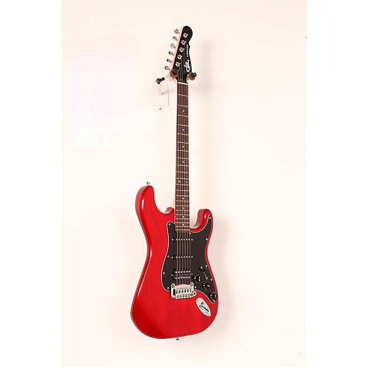 G&L Limited Edition Tribute Legacy HSS Painted Headcap Electric Guitar Transparent Red 888365908533