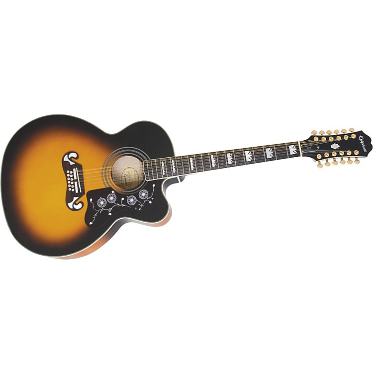 epiphone limited editon ej 212ce acoustic electric 12 string guitar music123. Black Bedroom Furniture Sets. Home Design Ideas