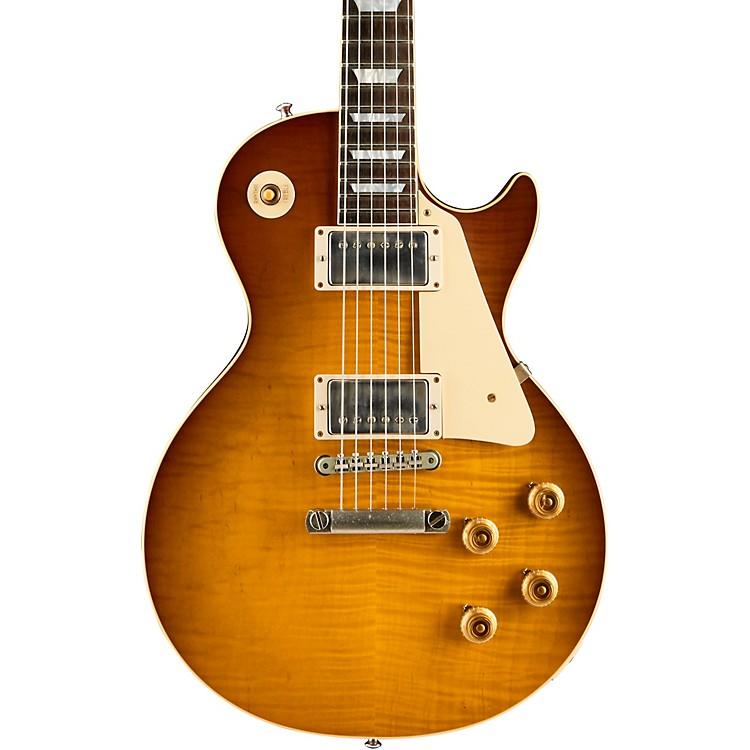 Gibson CustomLimited Run 1959 Les Paul Standard Flame Top VOS w/Brazilian Rosewood Fingerboard Electric GuitarSlow Iced Tea Fade