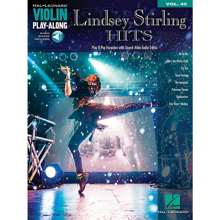 Hal Leonard Lindsey Stirling Hits Violin Play-Along Vol. 45 Book/Audio Online