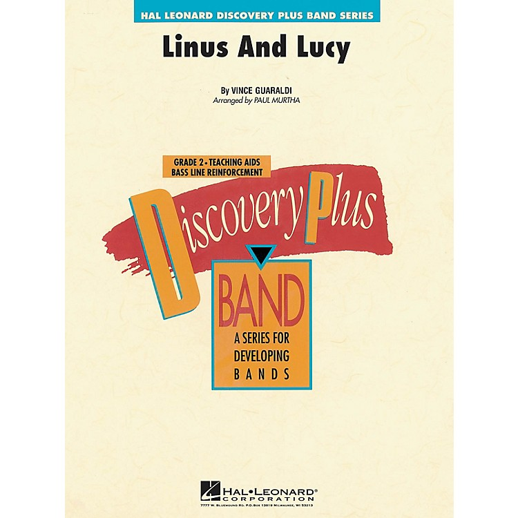 Hal LeonardLinus and Lucy - Discovery Plus Concert Band Series Level 2 arranged by Paul Murtha