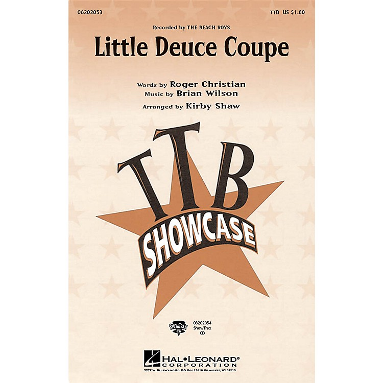 Hal Leonard Little Deuce Coupe ShowTrax CD by The Beach Boys Arranged by Kirby Shaw