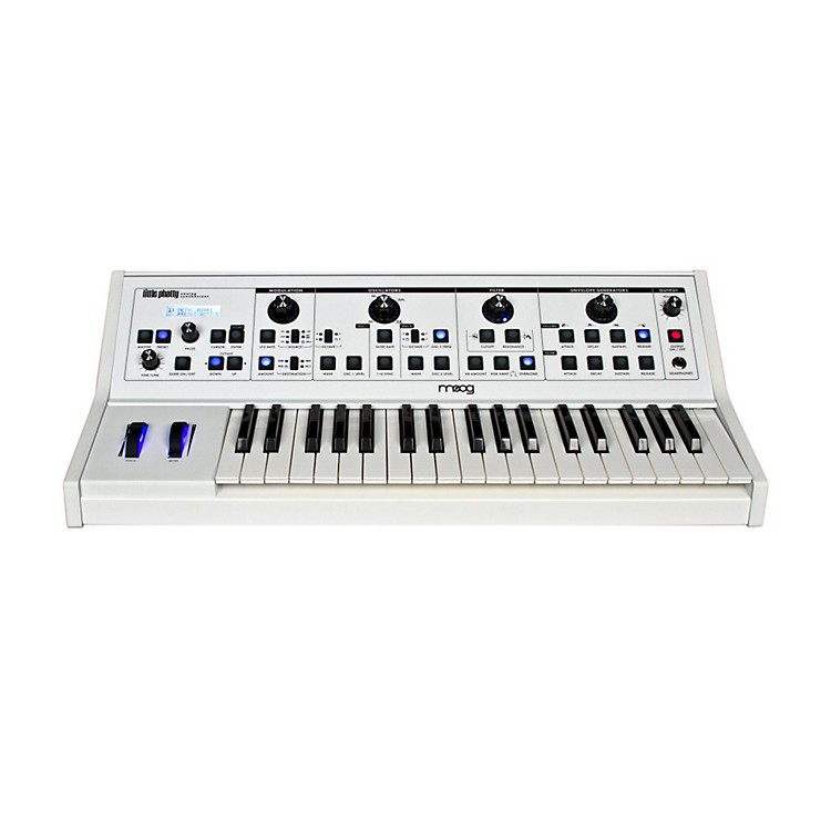 Moog Little Phatty Stage II Keyboard Synthsizer with Custom White Finish