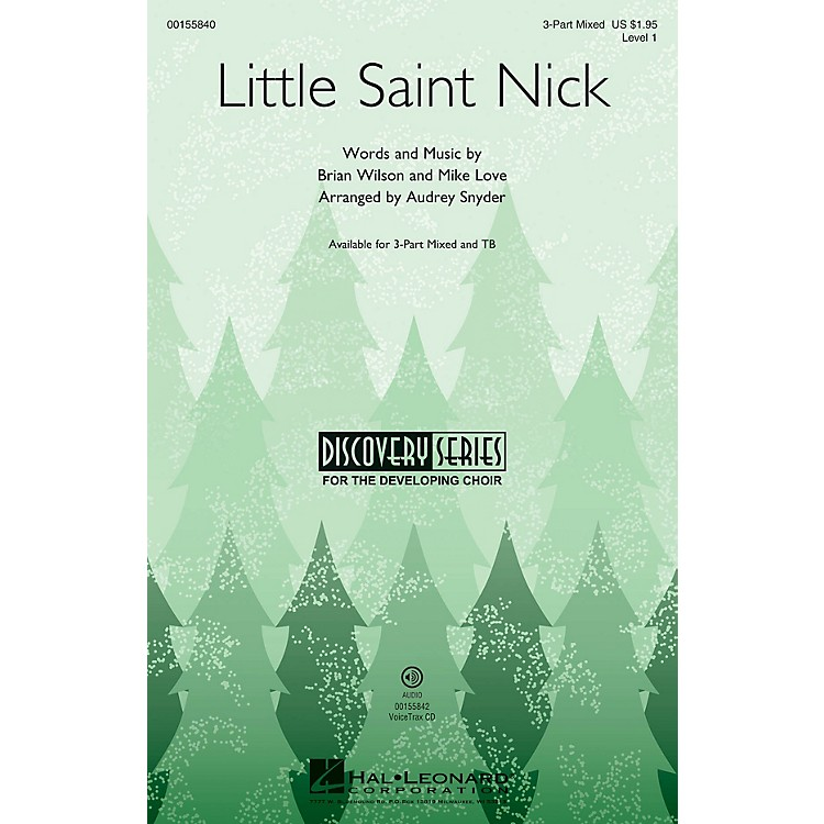 Hal LeonardLittle Saint Nick (Discovery Level 1) 3-Part Mixed arranged by Audrey Snyder