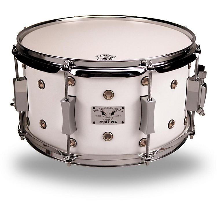 Pork PieLittle Squealer Maple/Birch Vented Snare Drum13 x 7White Satin