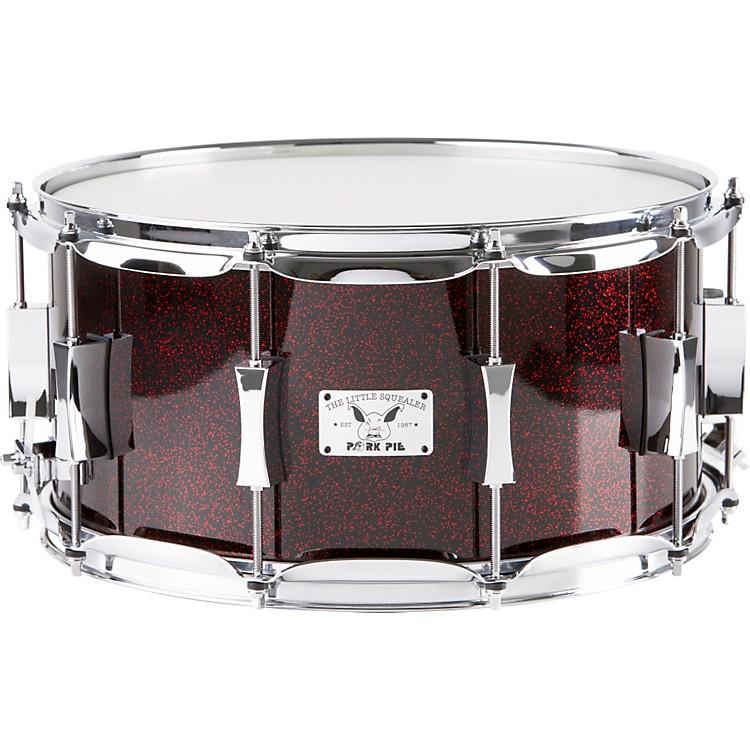 Pork PieLittle Squealer Maple Snare Drum, Blood Red Sparkle