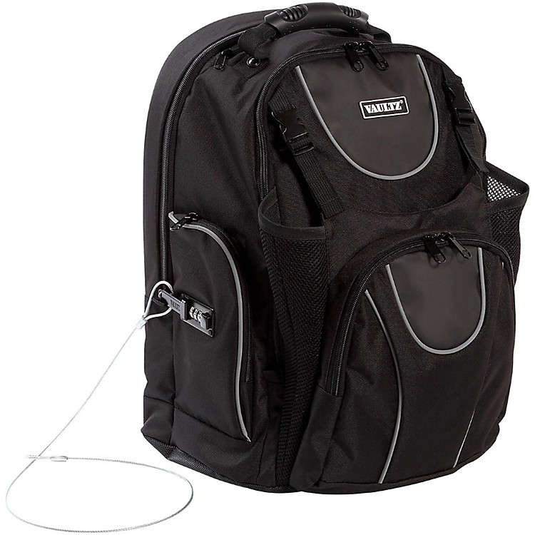 Vaultz Locking Backpack Black