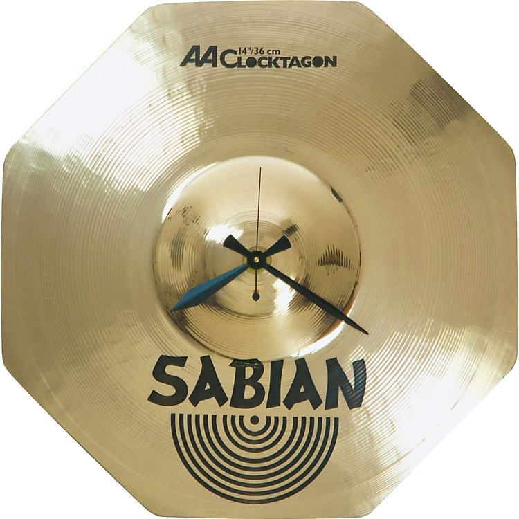 Sabian Logo Clocktagon Clock