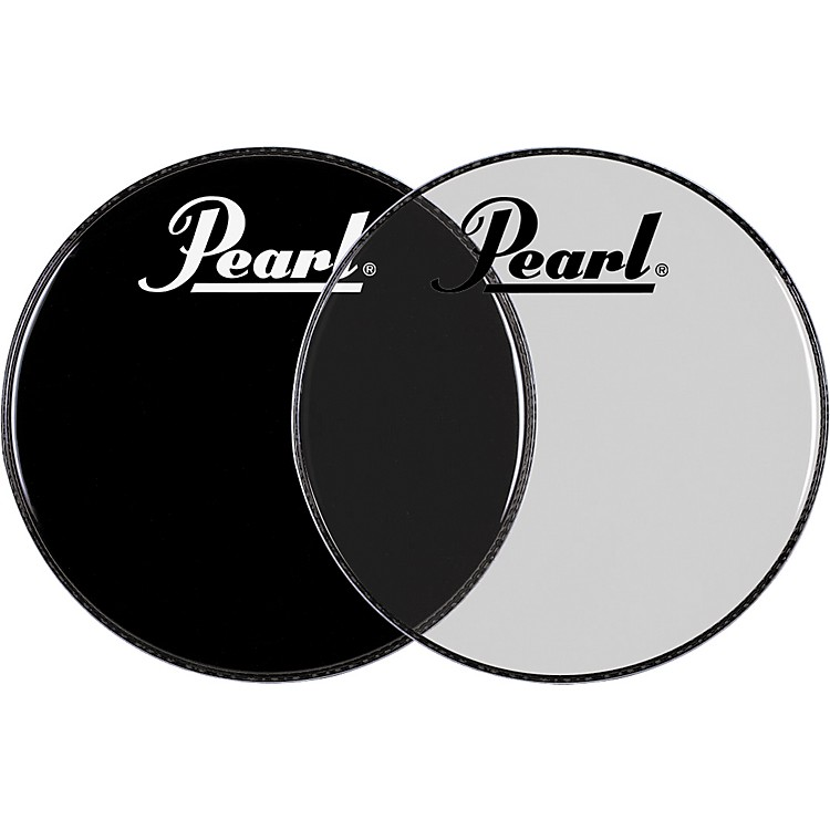 Pearl Logo Front Bass Drum Head Ebony 22 in.