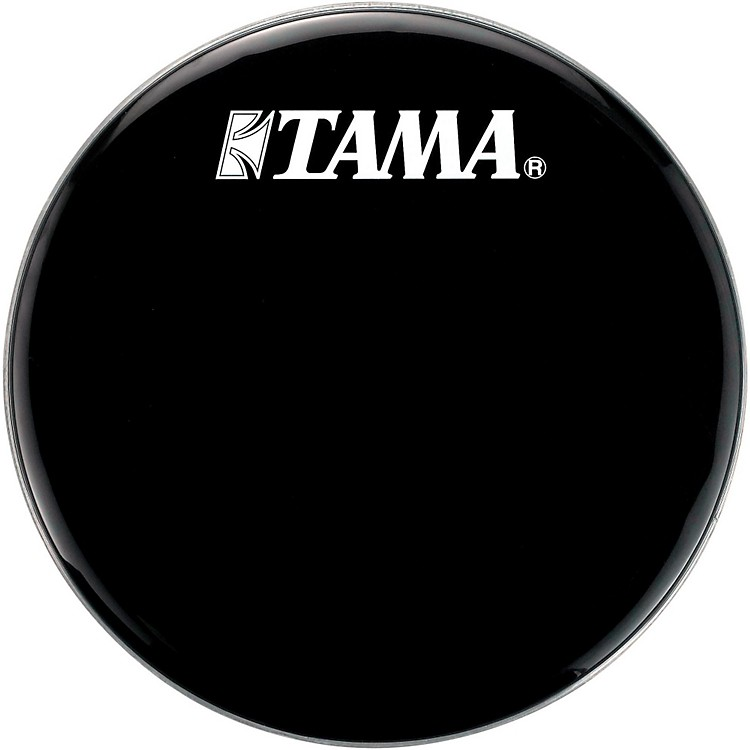 tama logo resonant bass drum head 22 in black music123. Black Bedroom Furniture Sets. Home Design Ideas
