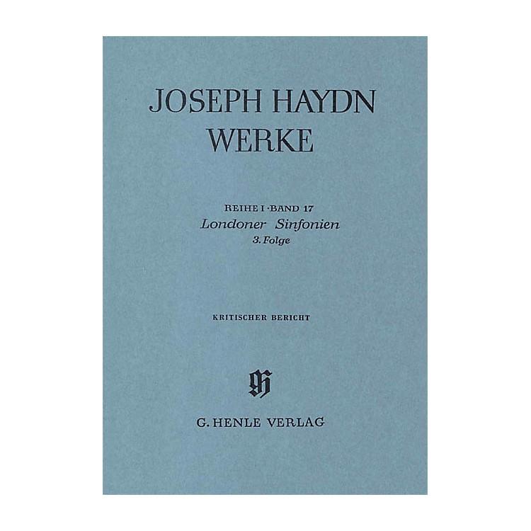 G. Henle VerlagLondon Sinfonias, 3rd sequence Henle Edition Series Hardcover
