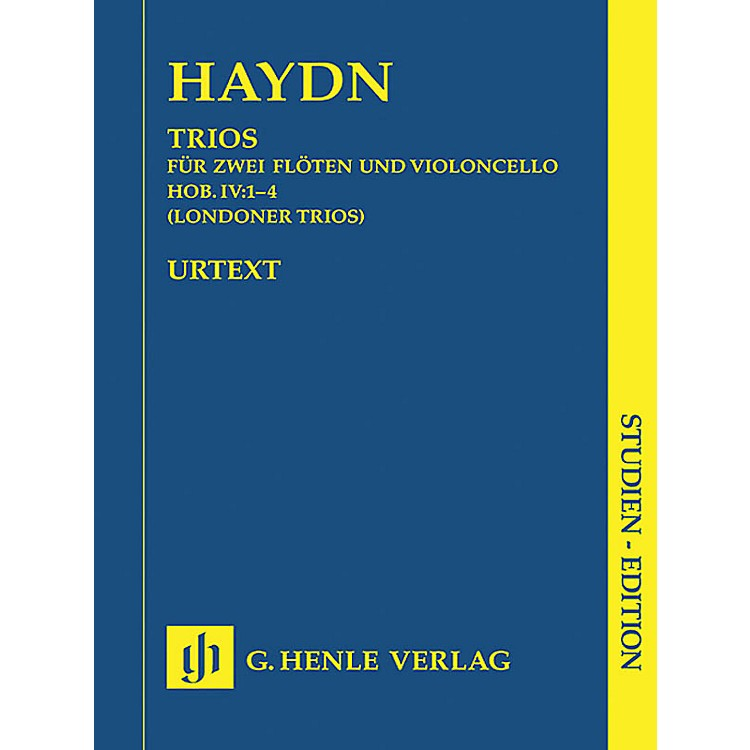 G. Henle VerlagLondon Trios Hob.IV:1-4 (Study Score) Henle Study Scores Series Softcover Composed by Joseph Haydn