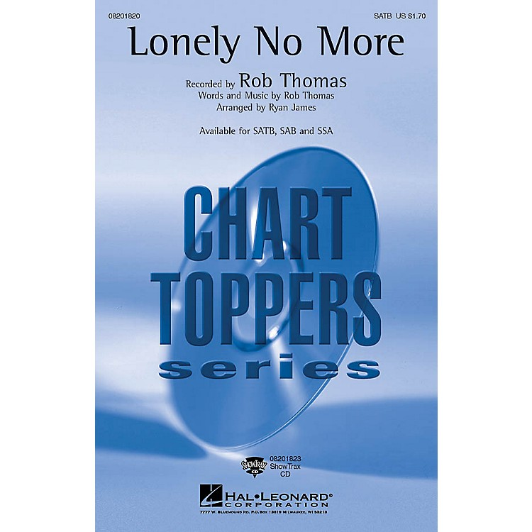 Hal Leonard Lonely No More ShowTrax CD Arranged by Ryan James