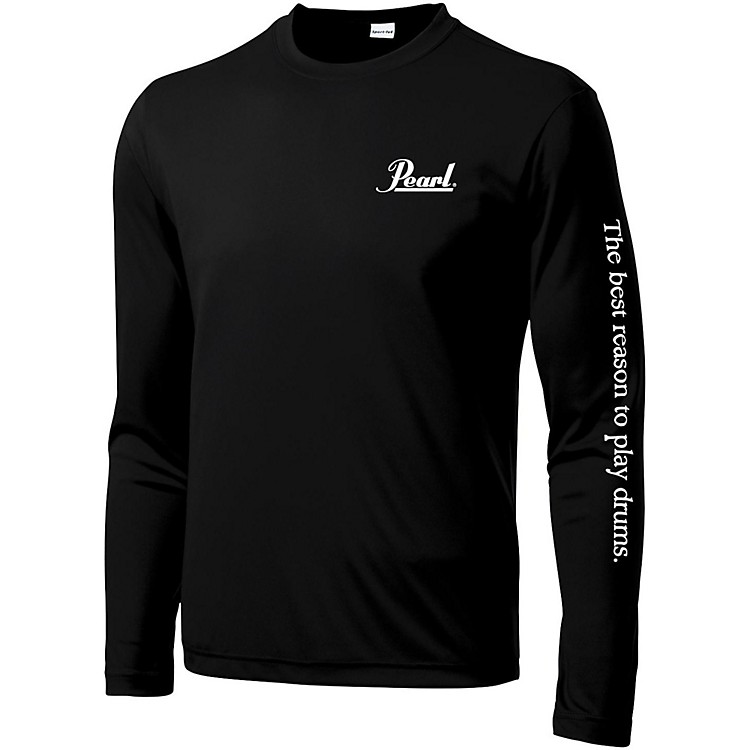 Pearl Long Sleeve Wicking Tee X Large Black
