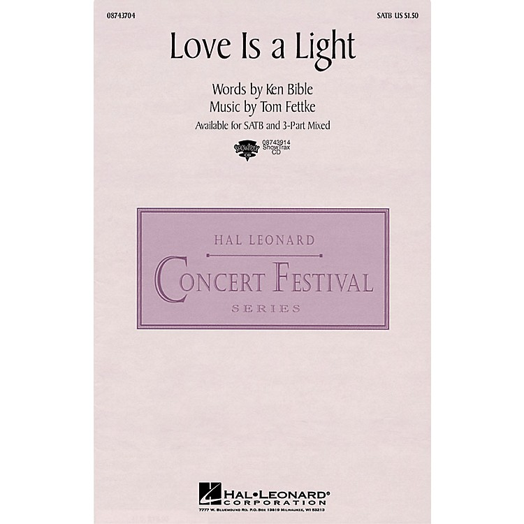 Hal LeonardLove Is a Light 3-Part Mixed Composed by Tom Fettke
