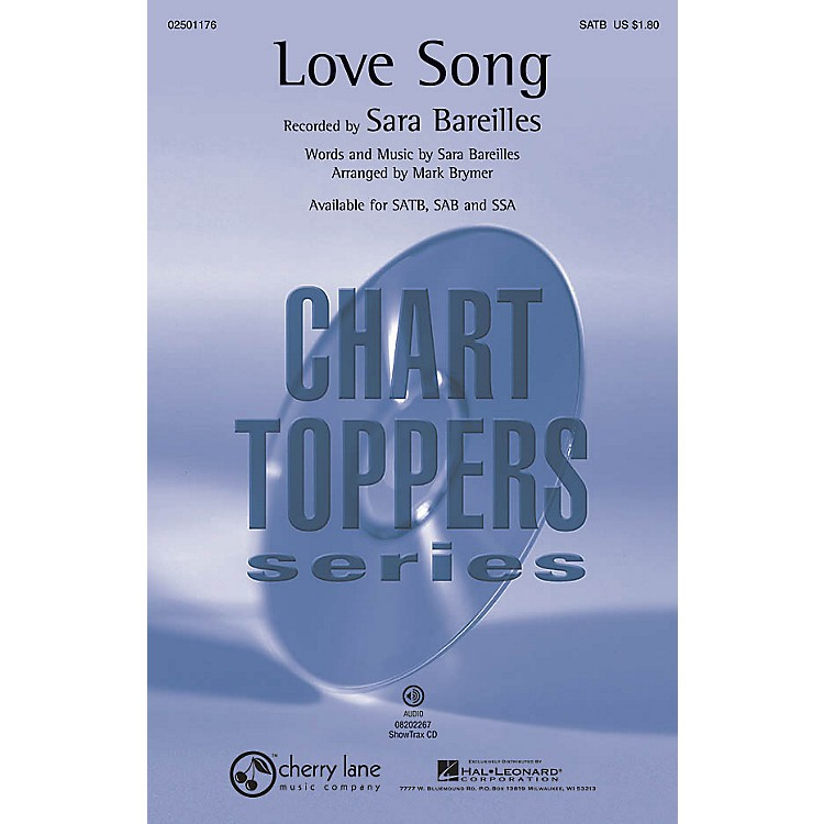 Cherry LaneLove Song SAB by Sara Bareilles Arranged by Mark Brymer