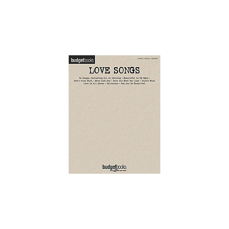 Hal LeonardLove Songs Budget Piano, Vocal, Guitar Songbook